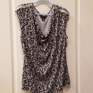 Lane Bryant 18/20  Cowl-Neck 2-Zip Shoulder Top